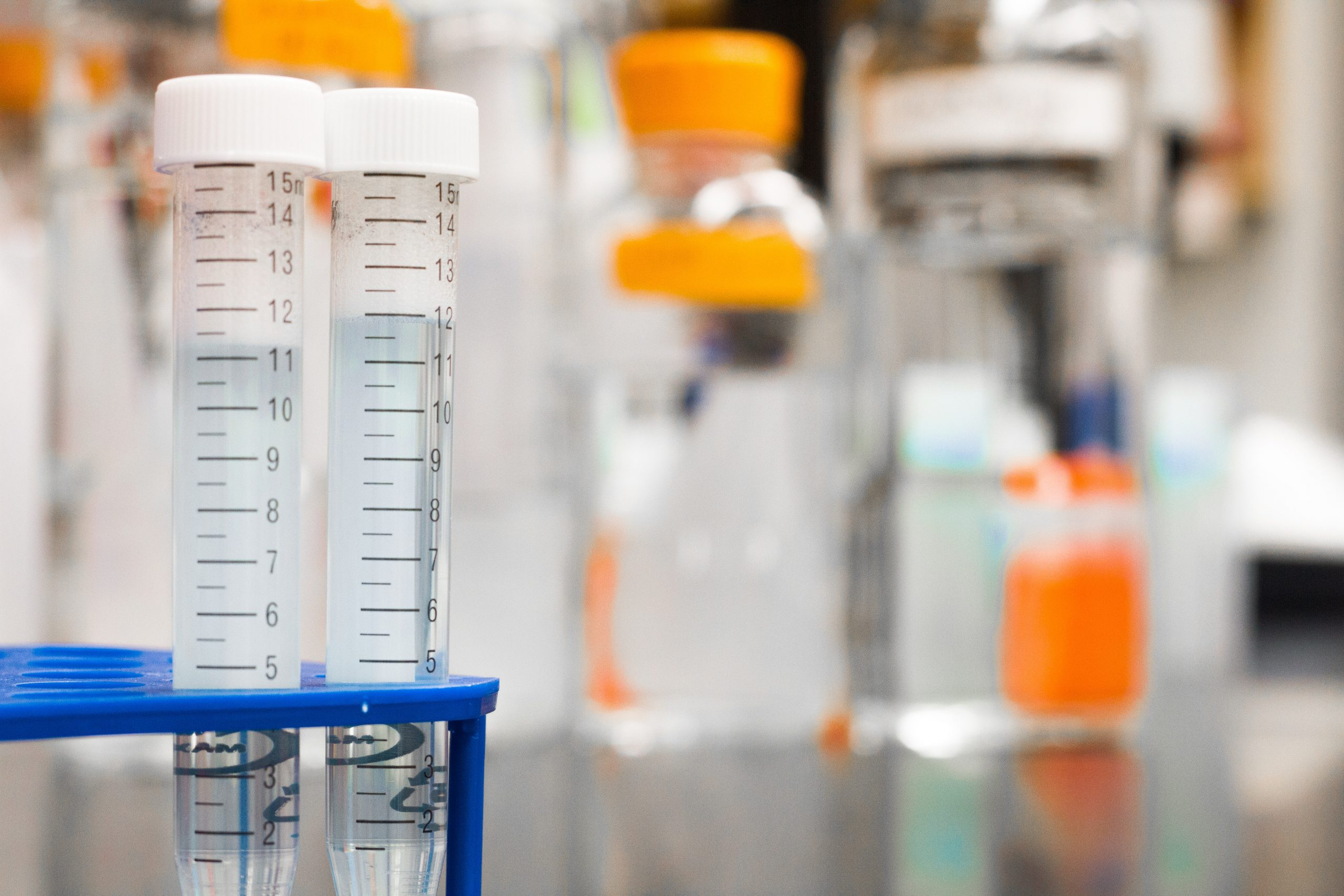 Test Tubes on Lab Table